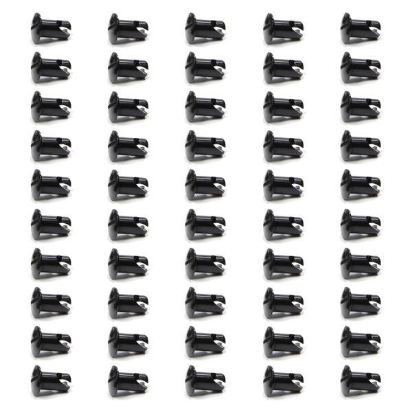 Triple X Race Components TXRCH-4402-50-BLK Oval Head Button Aluminum Black .550 Long 50-Pack