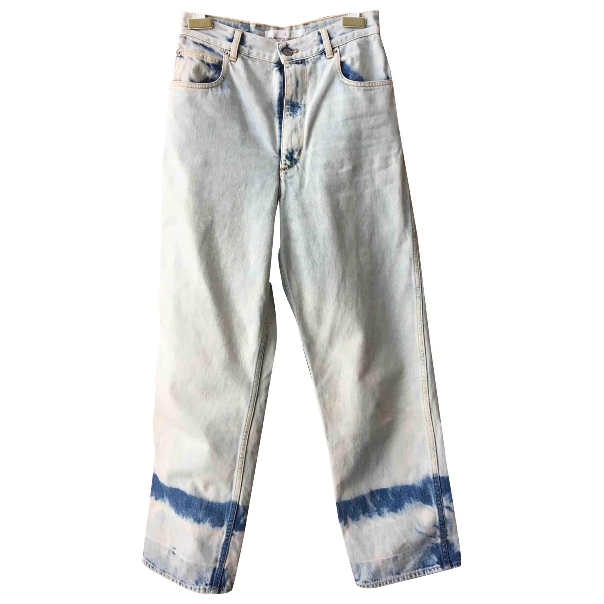 Golden Goose \N Jeans in  Blau Baumwolle