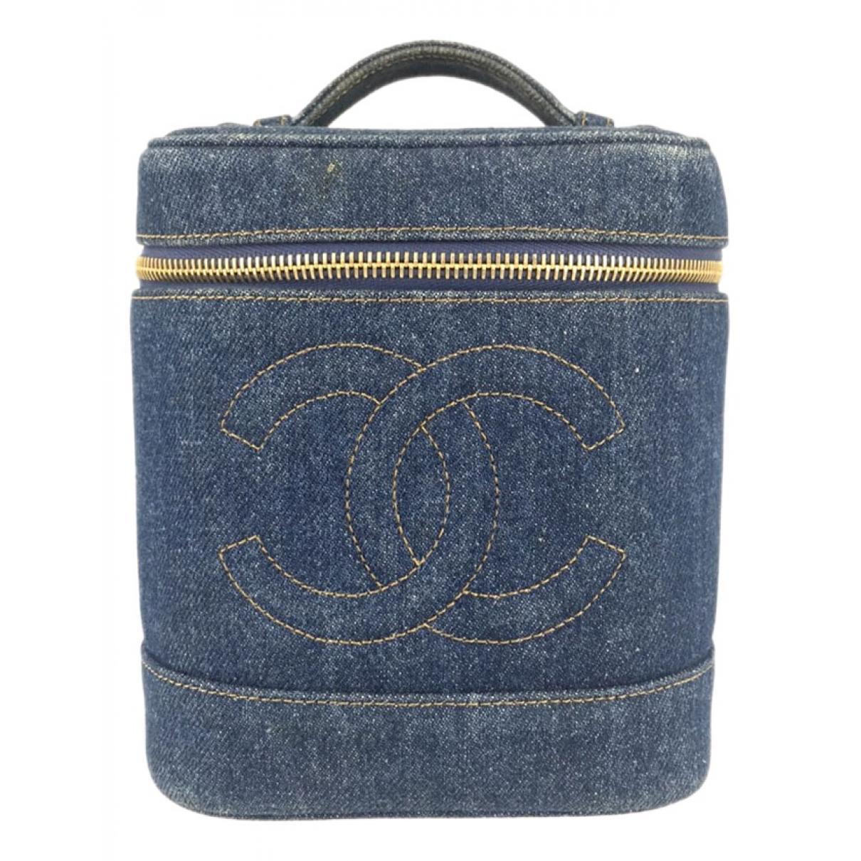 Chanel N Blue Denim - Jeans Travel bag for Women N