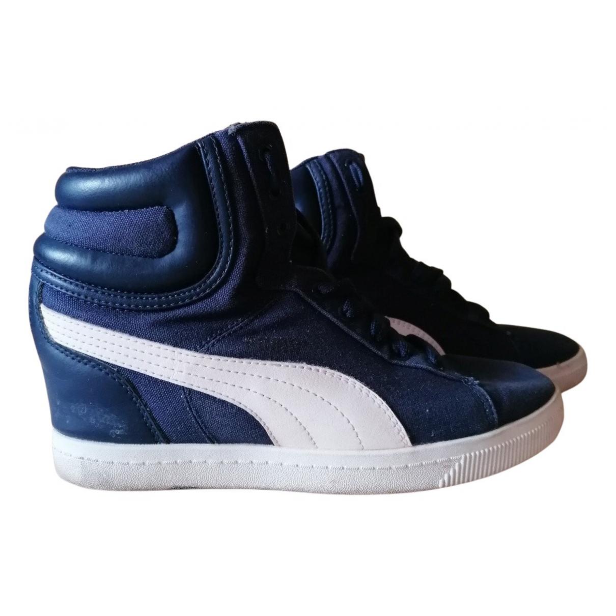 Puma - Baskets   pour femme en toile - bleu