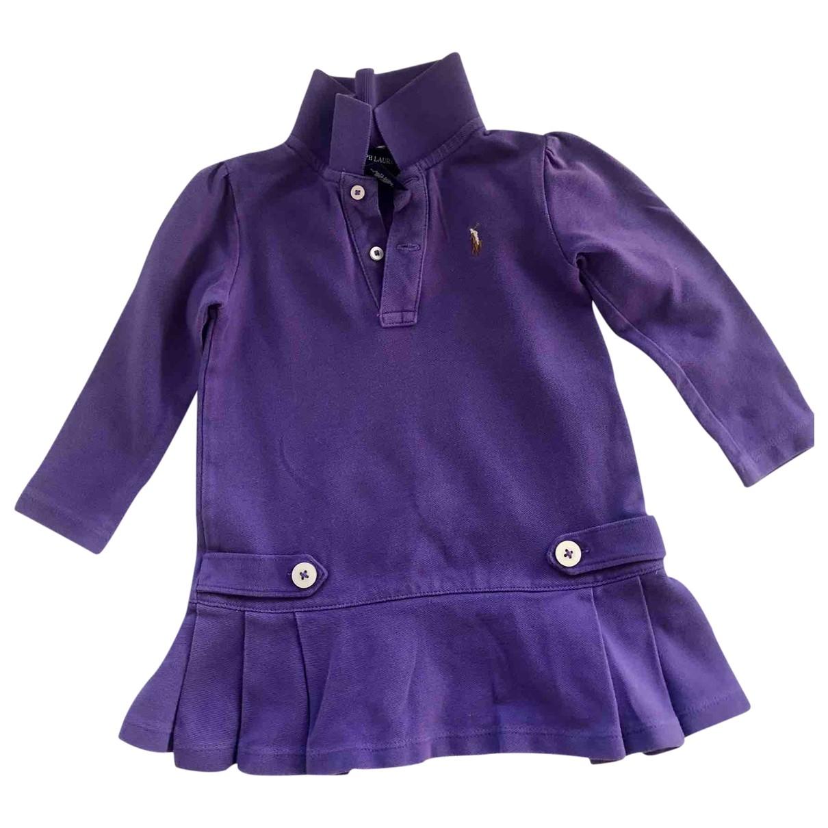 Ralph Lauren - Robe    pour enfant en coton - violet