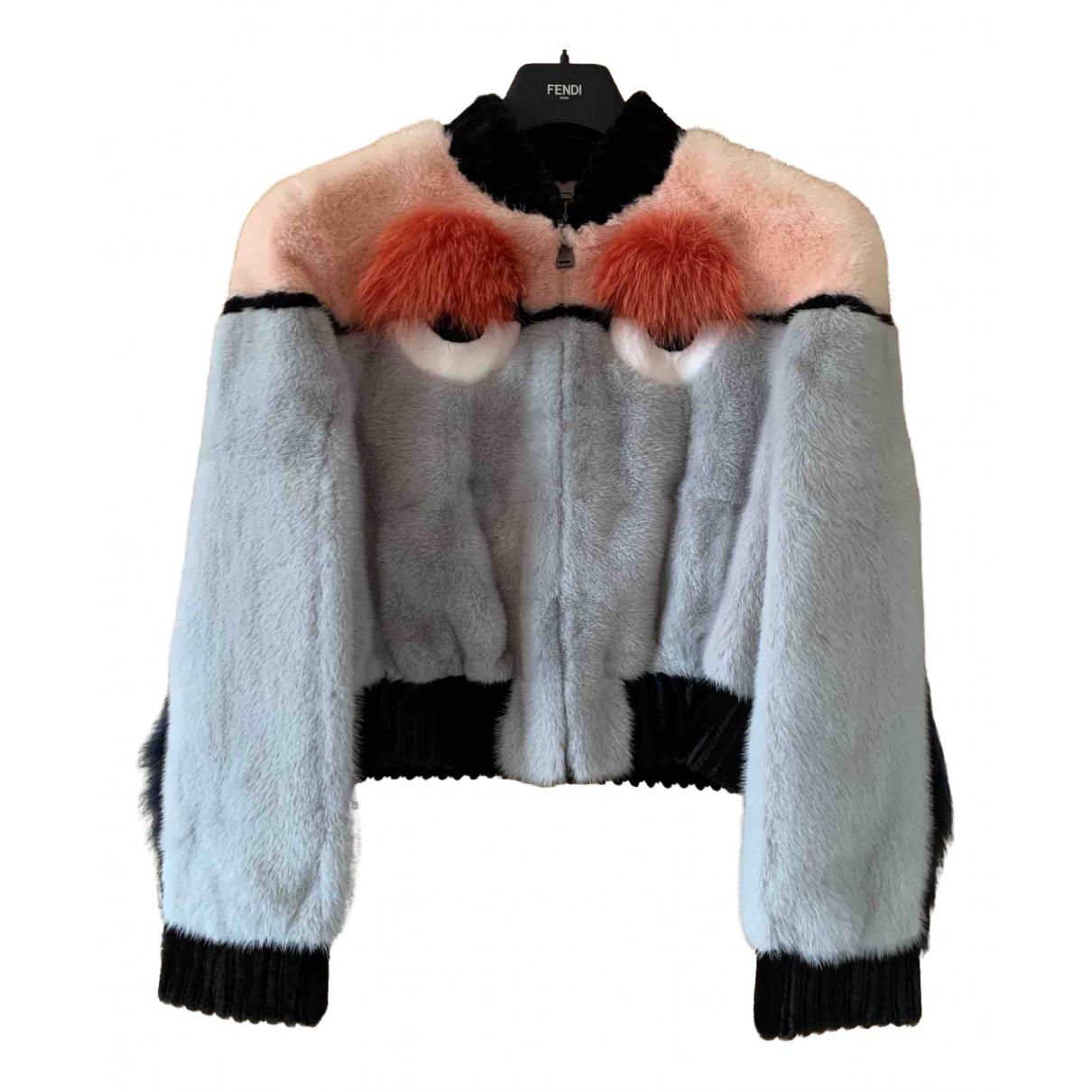 Fendi N Grey Mink jacket for Women 42 IT
