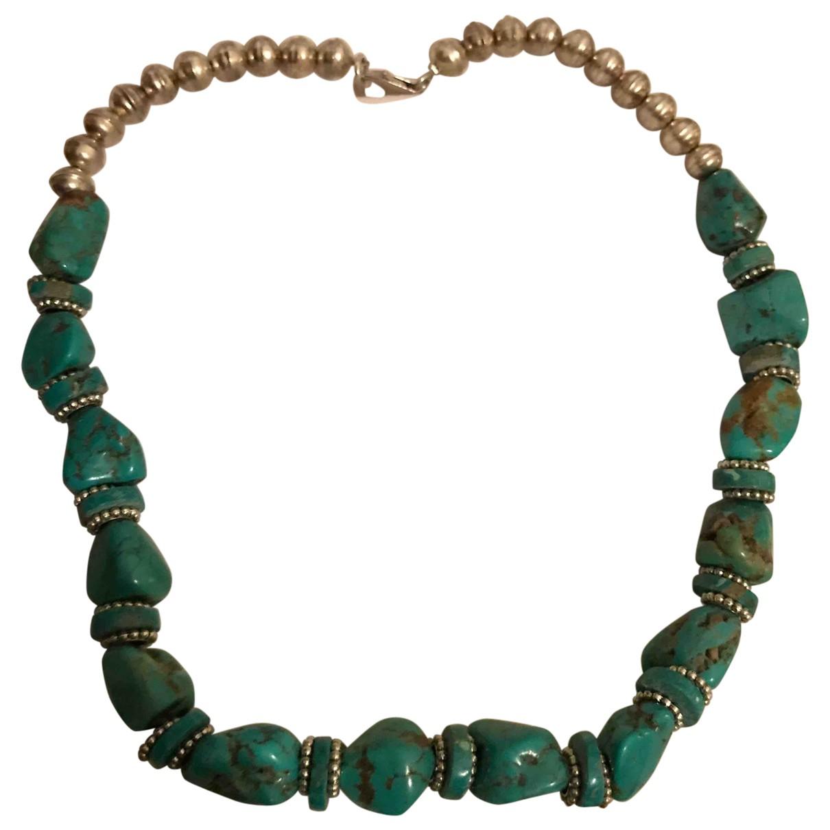 - Collier   pour femme en argent - turquoise