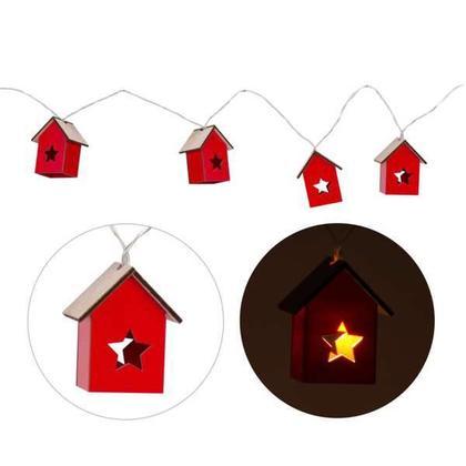 Guirlande petites maisons rouges illumi 70