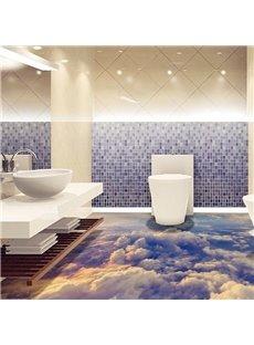 3D Sea Of Clouds PVC Non-slip Waterproof Eco-friendly Self-Adhesive Floor Murals