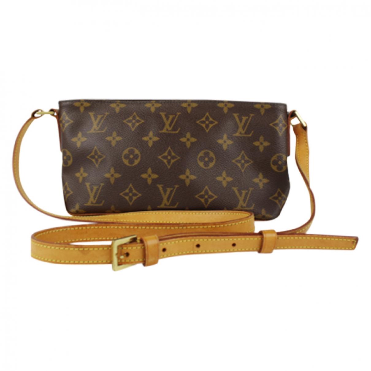 Louis Vuitton - Sac a main Trotteur pour femme en toile - marron