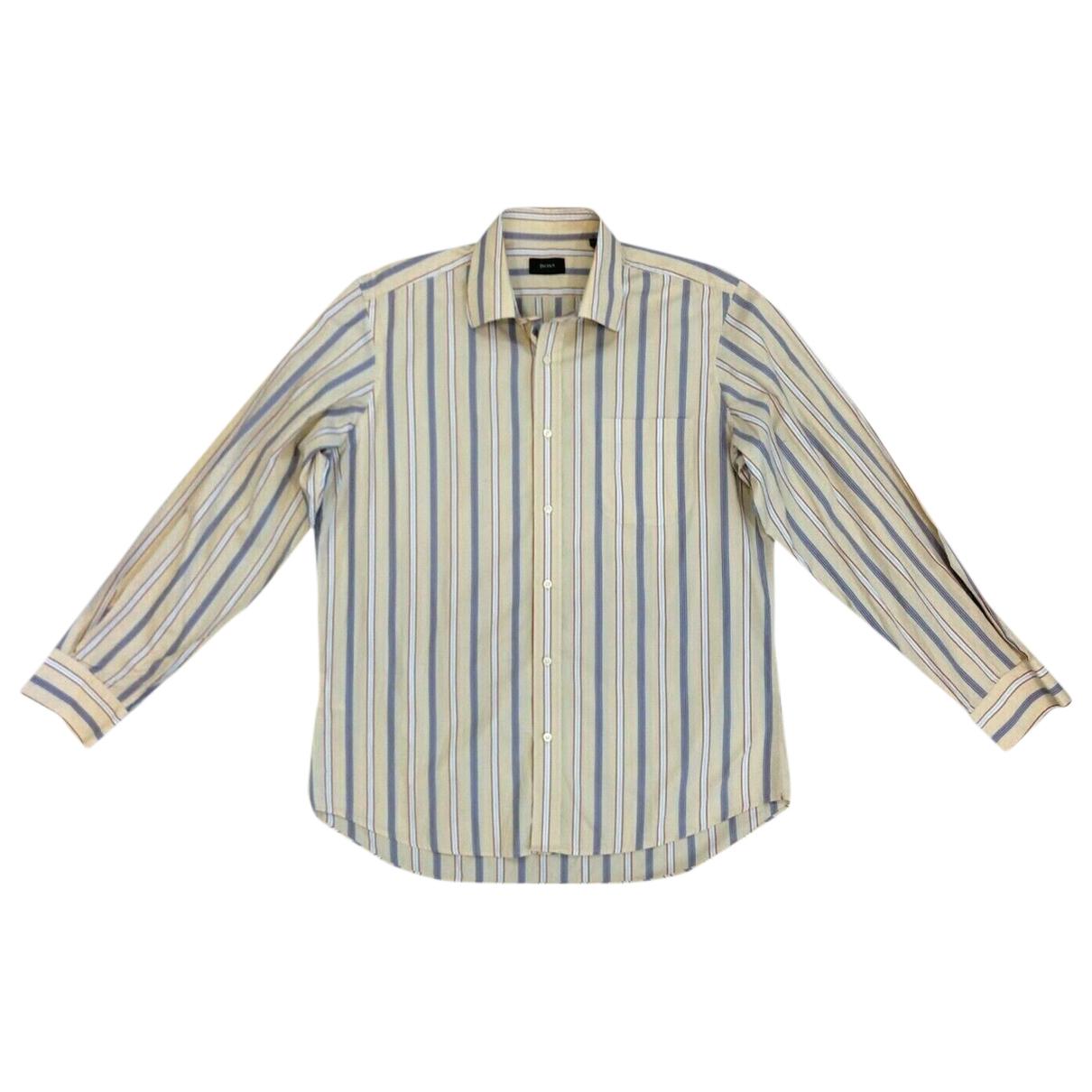 Boss \N Beige Cotton Shirts for Men 16.5 UK - US (tour de cou / collar)
