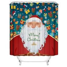 Santa Claus Print Shower Curtain