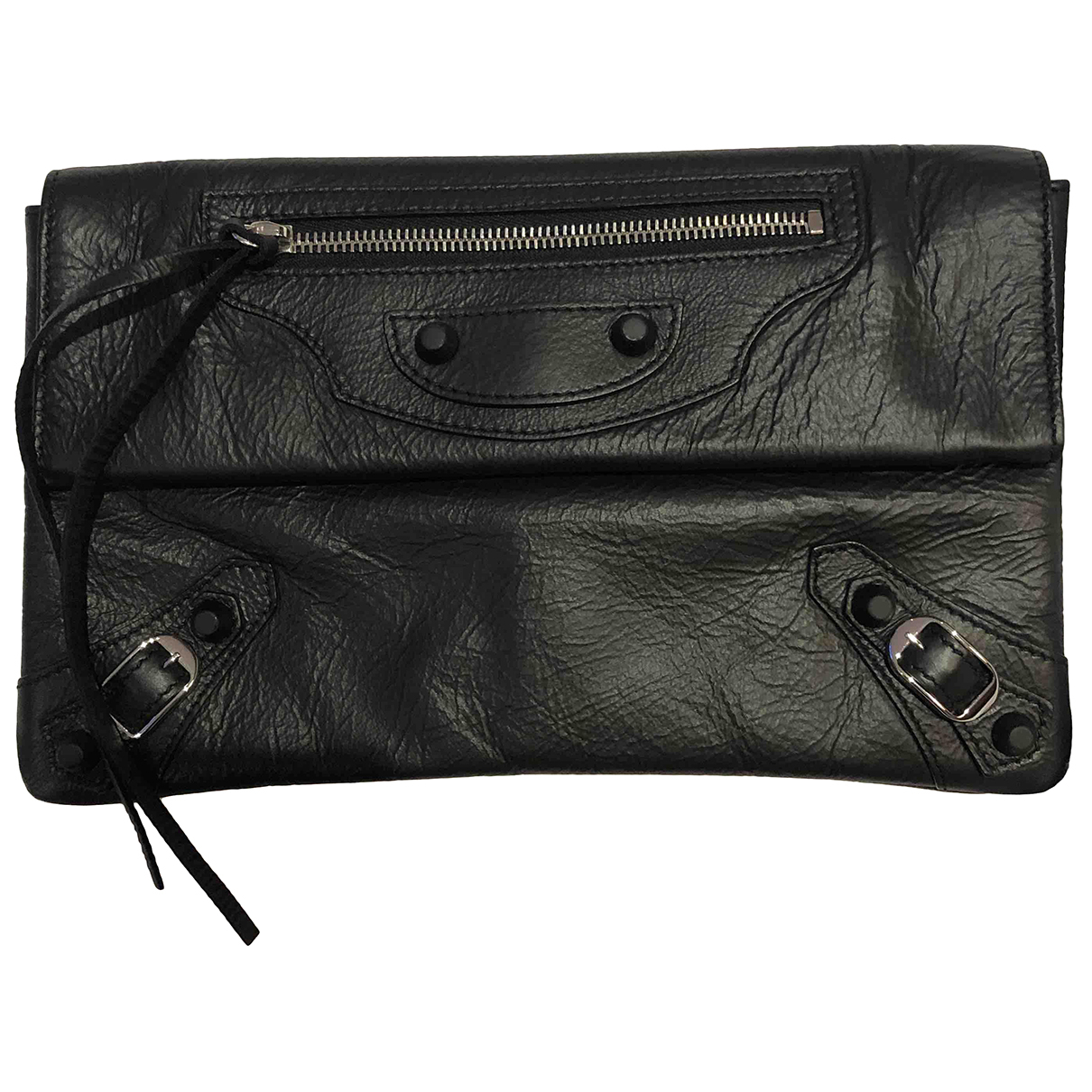 Balenciaga Envelop Clutch in  Schwarz Leder