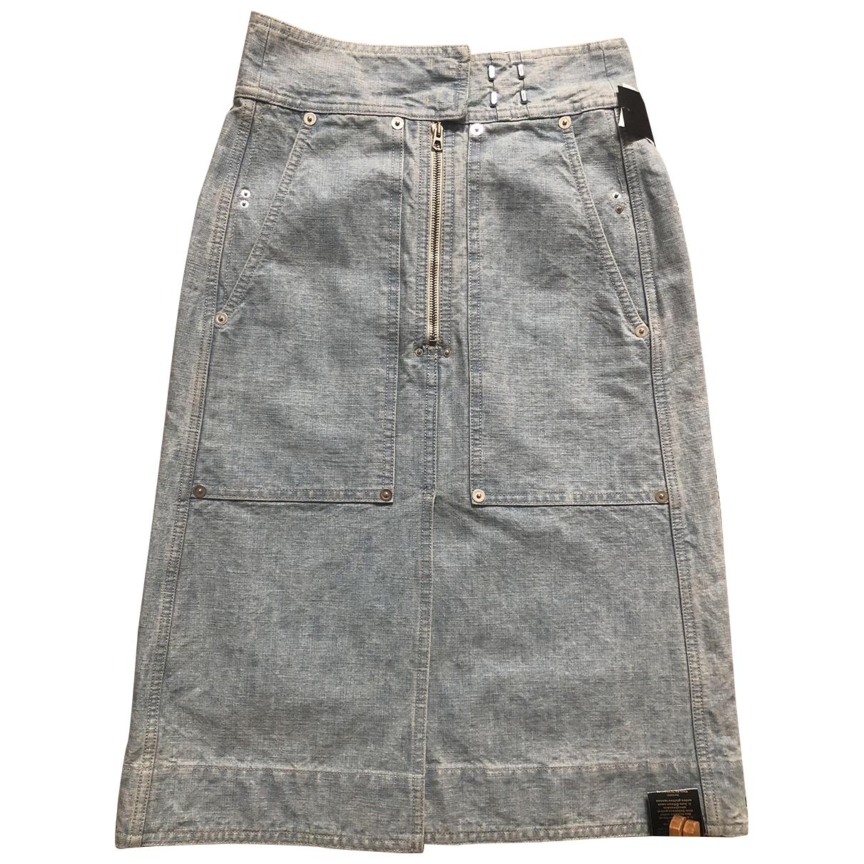 Isabel Marant \N Blue Denim - Jeans skirt for Women 34 FR