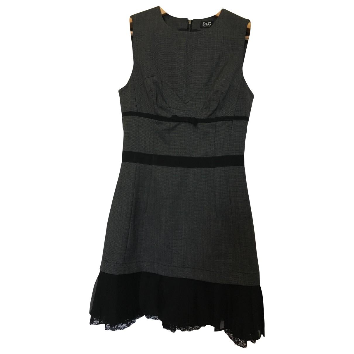 D&g - Robe   pour femme en soie - gris
