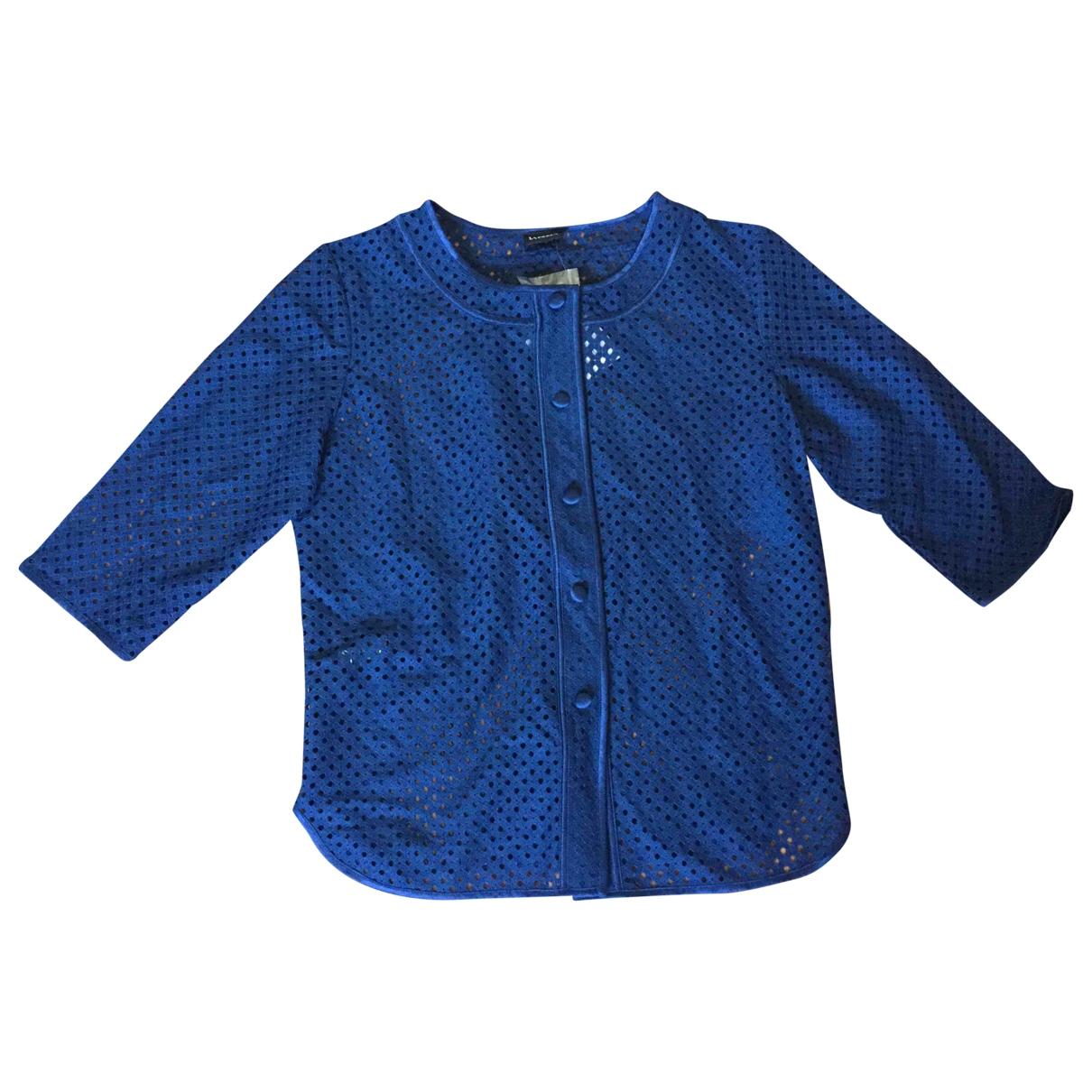 La Perla - Top   pour femme en coton - bleu