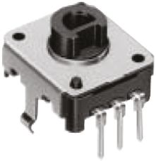 Alps Alpine 12 Pulse Incremental Mechanical Rotary Encoder with a 6 mm Hollow Shaft (Not Indexed), Through Hole
