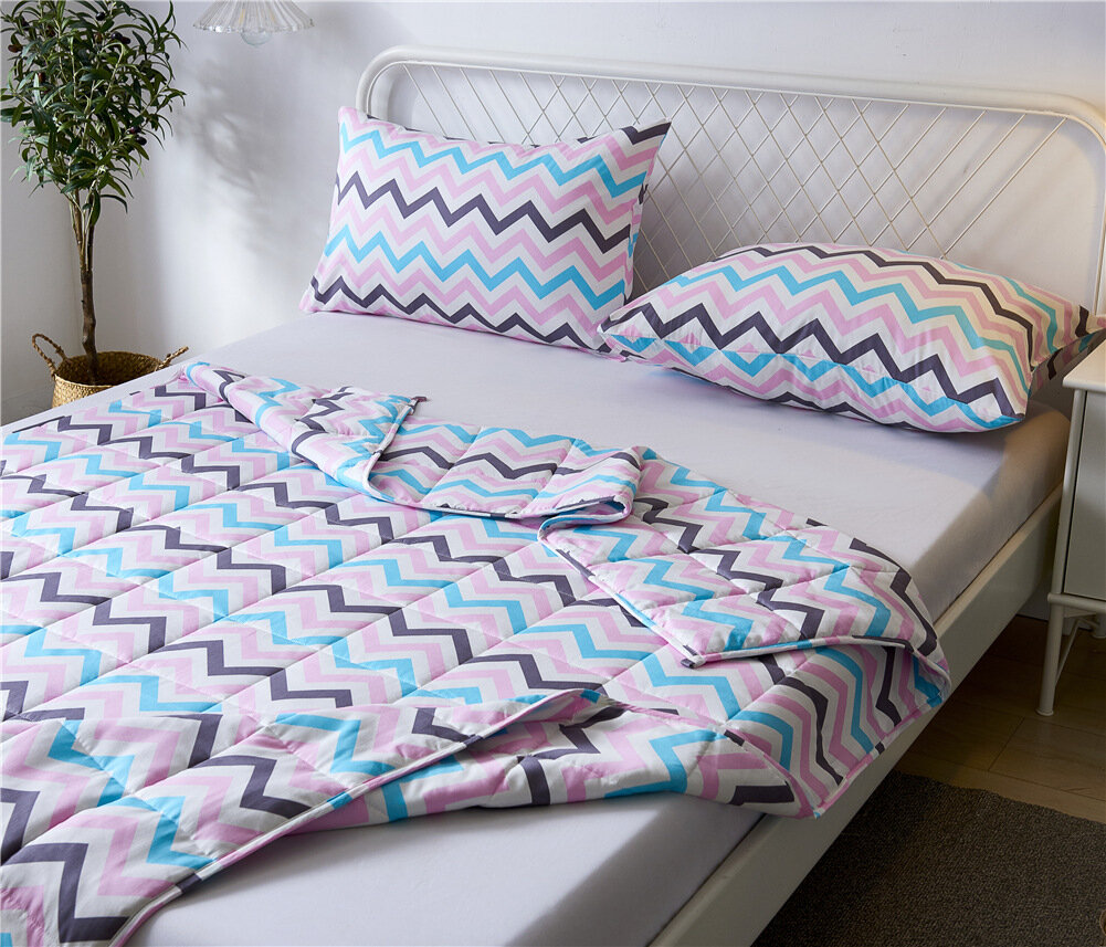 Cooling Premium Natural Cotton Bedding Adult Kids Removable Cover Weighted Blankets for Kids with Pillowcase
