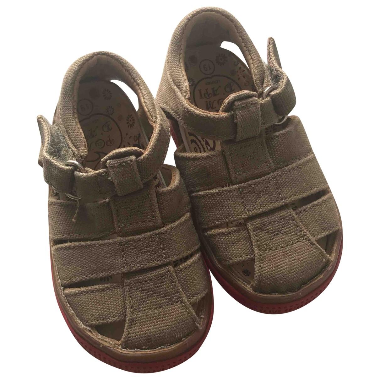 Pom Dapi - Sandales   pour enfant en toile - beige
