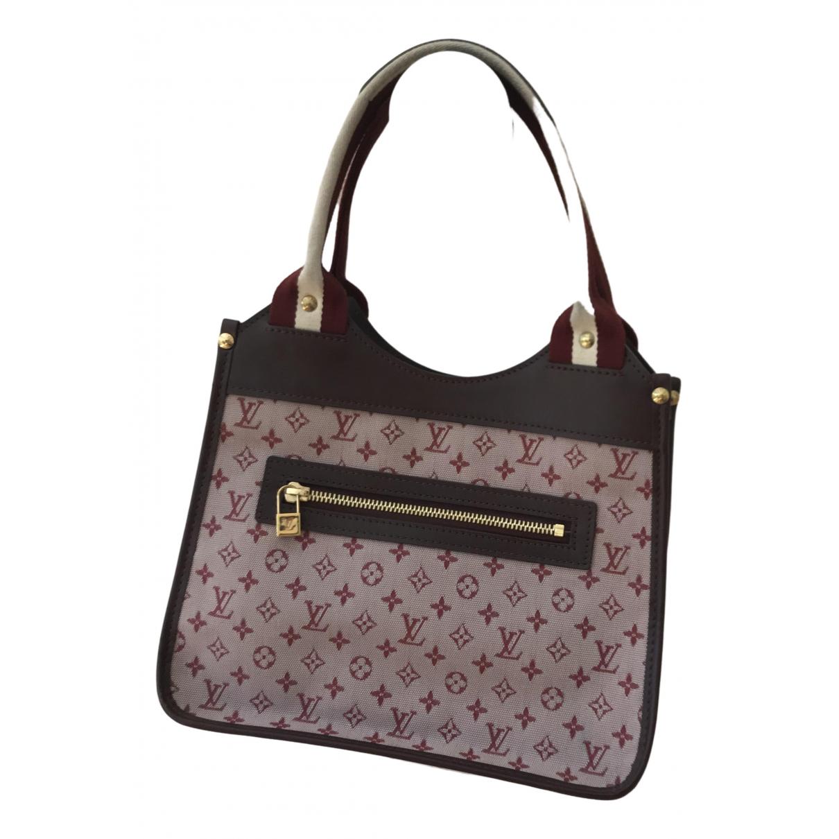 Louis Vuitton \N Burgundy Cloth handbag for Women \N