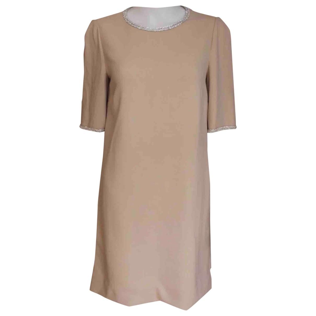 Dolce & Gabbana \N Kleid in  Beige Viskose