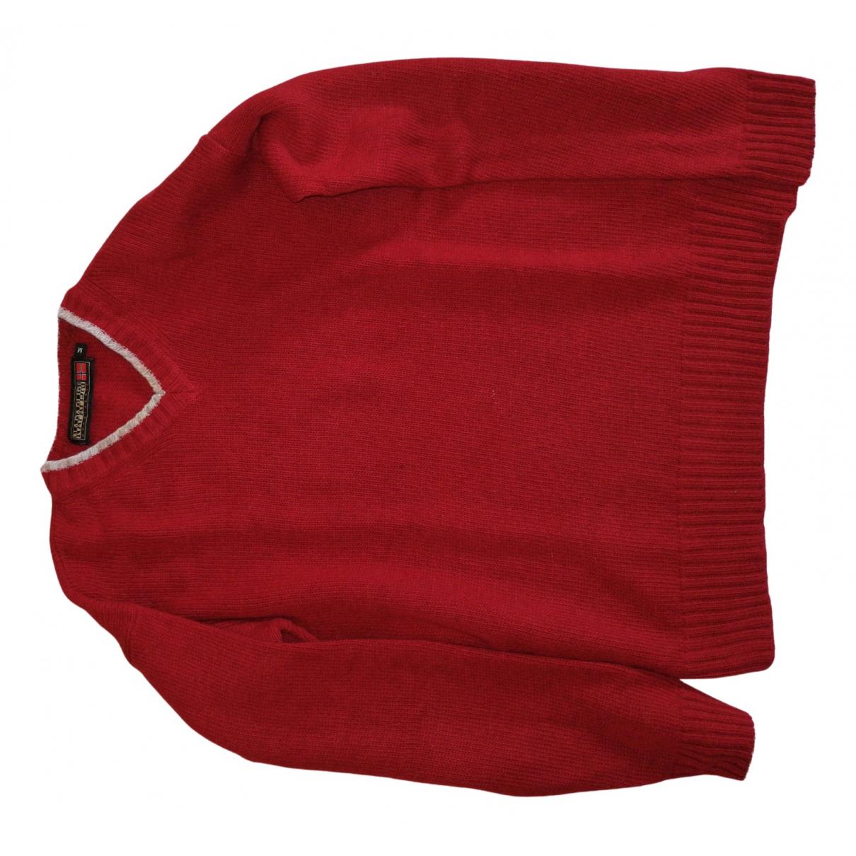 Napapijri \N Pullover.Westen.Sweatshirts  in  Rot Wolle