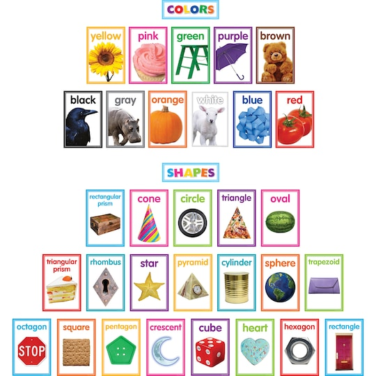 Teacher Created Resources Colorful Photo Shapes & Colors Cards Bulletin Board Set, 33Ct. | Michaels®