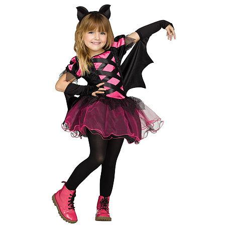 Bat Queen Toddler Girls Costume, 3t-4t , Pink