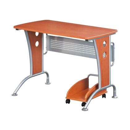 RTA-8338-DH33 Modern  Computer Desk With Mobile CPU Caddy  in Dark