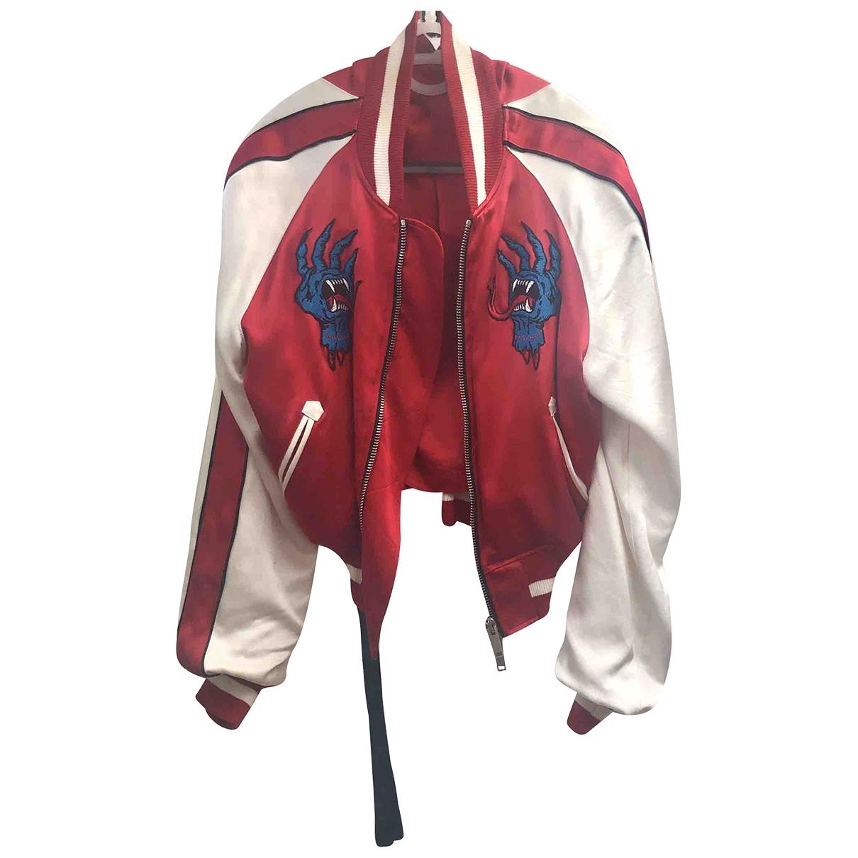 Unravel Project - Veste   pour femme en soie - rouge