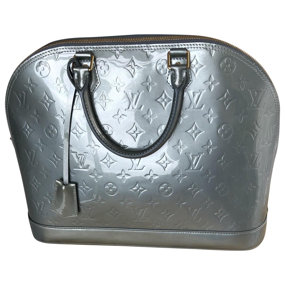 Louis Vuitton Alma Handtasche in  Silber Lackleder