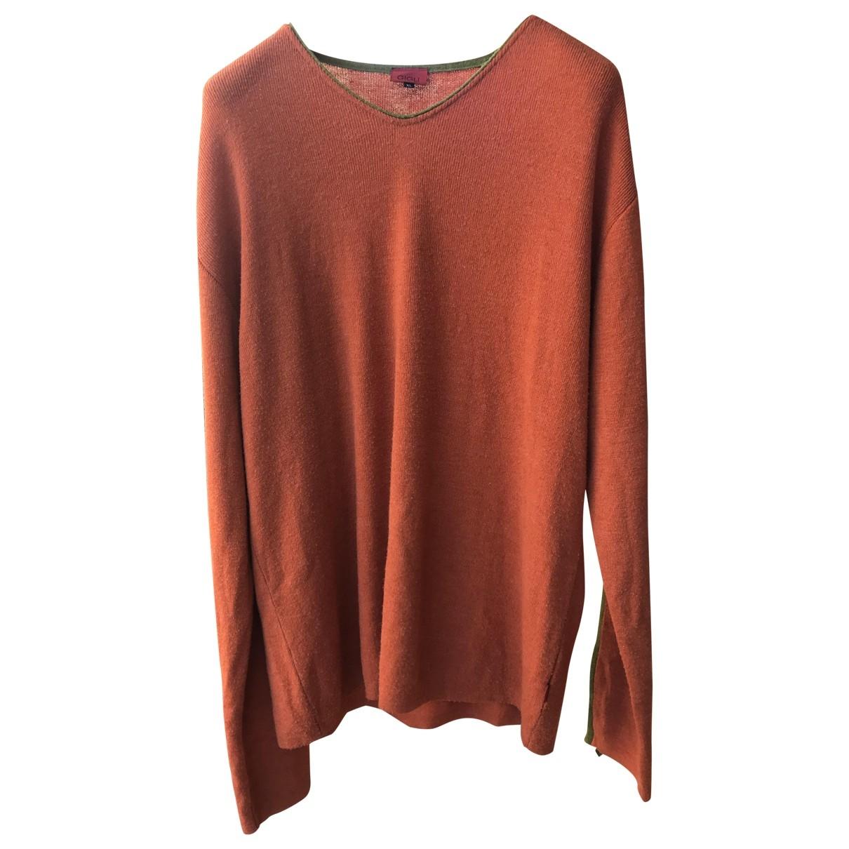 Romeo Gigli \N Pullover.Westen.Sweatshirts  in  Orange Viskose