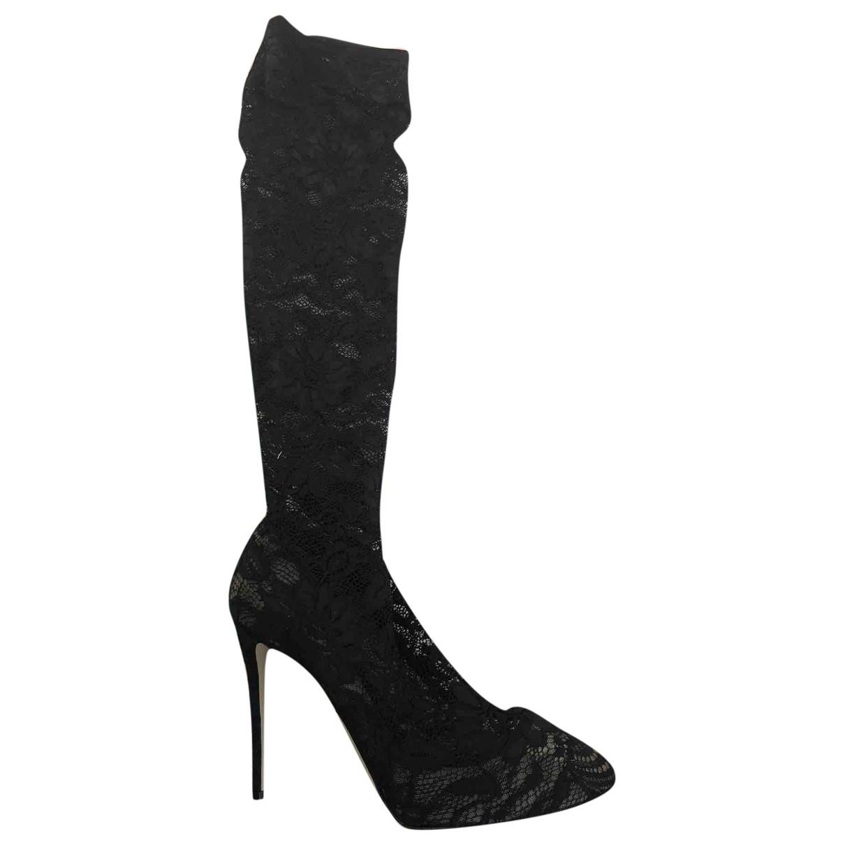 Dolce & Gabbana \N Black Cloth Boots for Women 41 EU