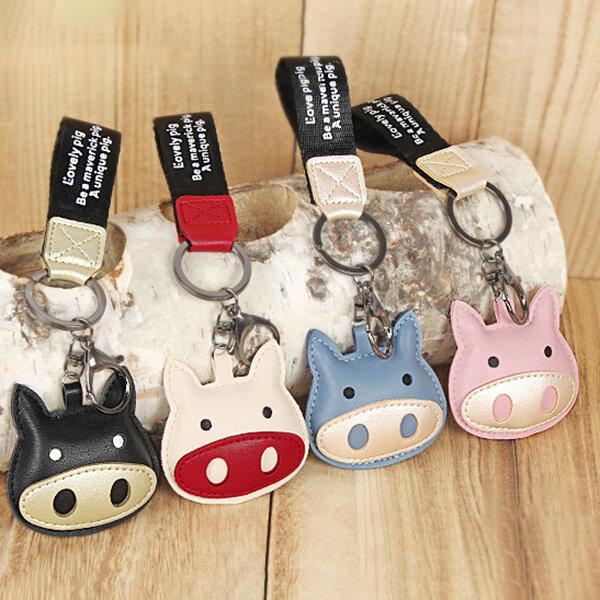 Cute Pig Key Chain Keyring Purse Bag Pendant Decor Accessory