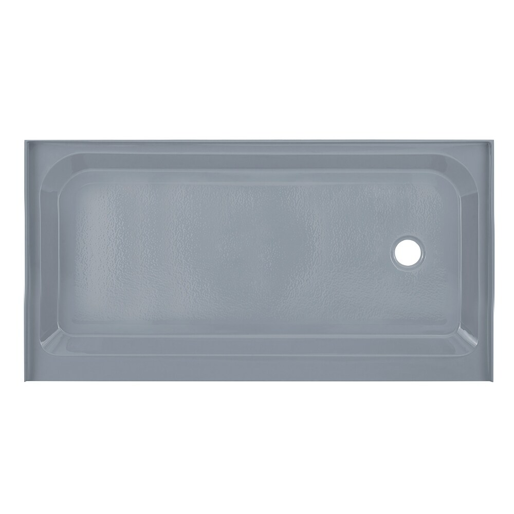 Voltaire 60 x 32 Single-Threshold, Right Drain, Shower Base, Grey (Grey)