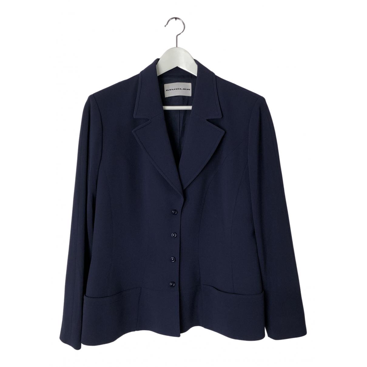 Mugler N Blue jacket for Women M International