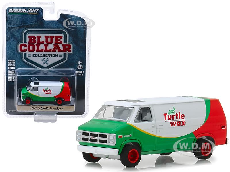 1983 GMC Vandura Van Turtle Wax Blue Collar Collection Series 5 1/64 Diecast Model Car by Greenlight