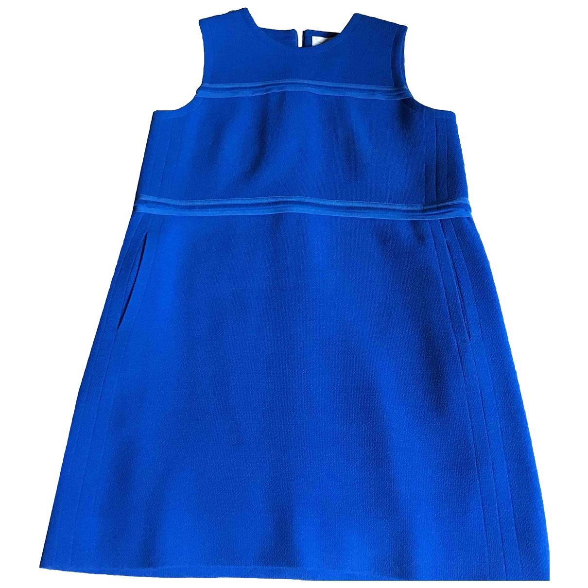 Victoria, Victoria Beckham \N Blue Wool dress for Women 12 UK