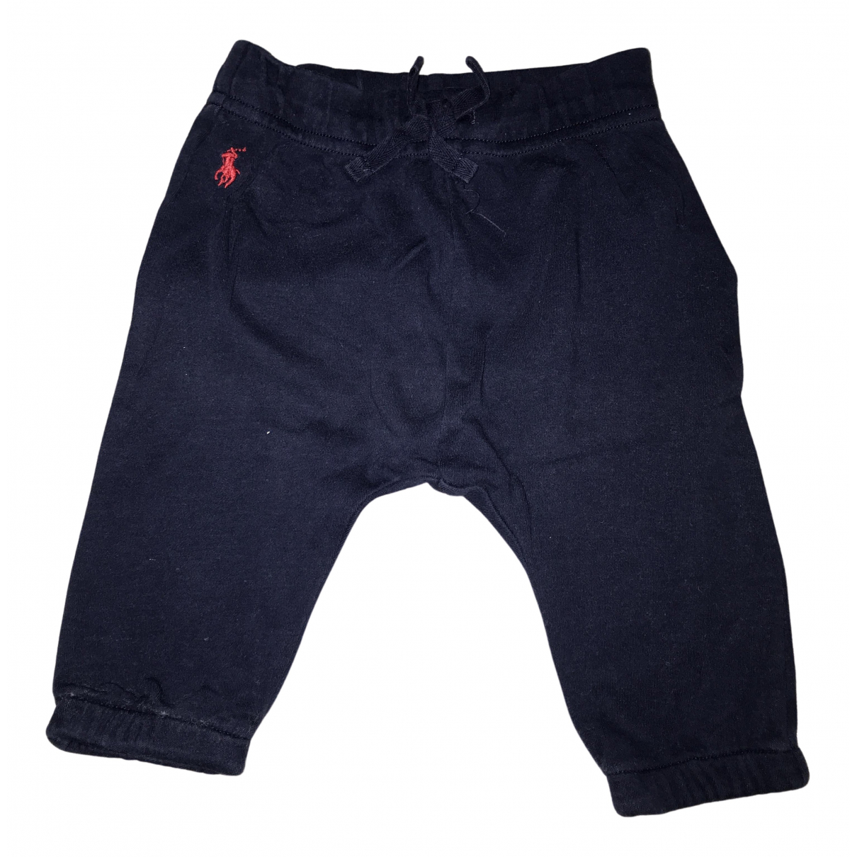 Ralph Lauren N Blue Cotton Trousers for Kids 6 months - up to 67cm FR