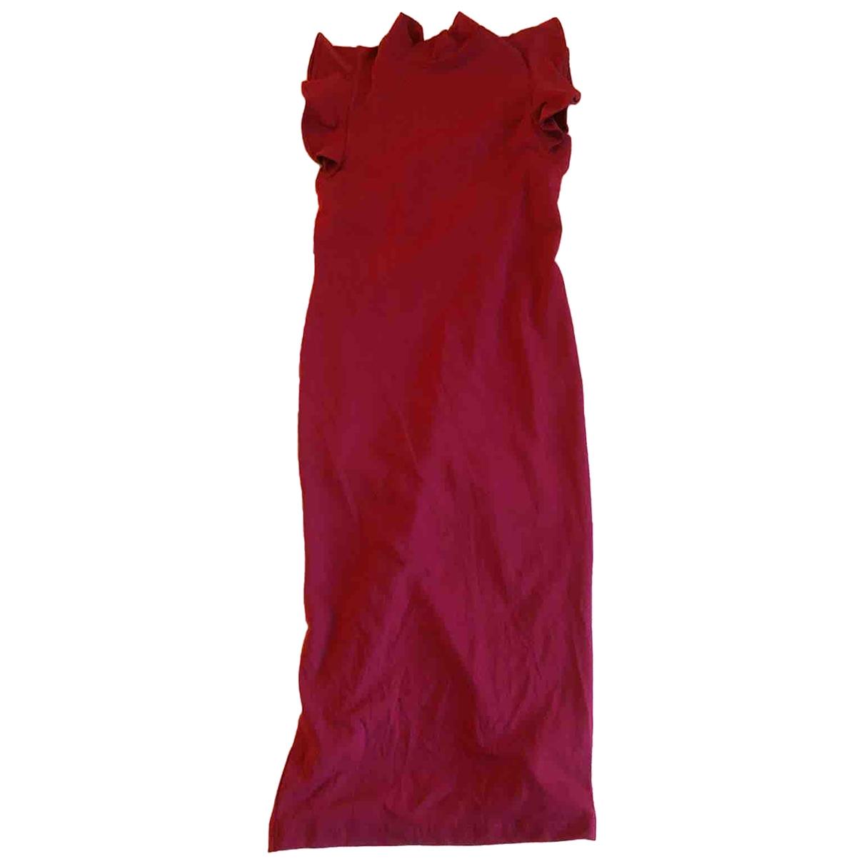 Asos - Robe   pour femme en coton - bordeaux