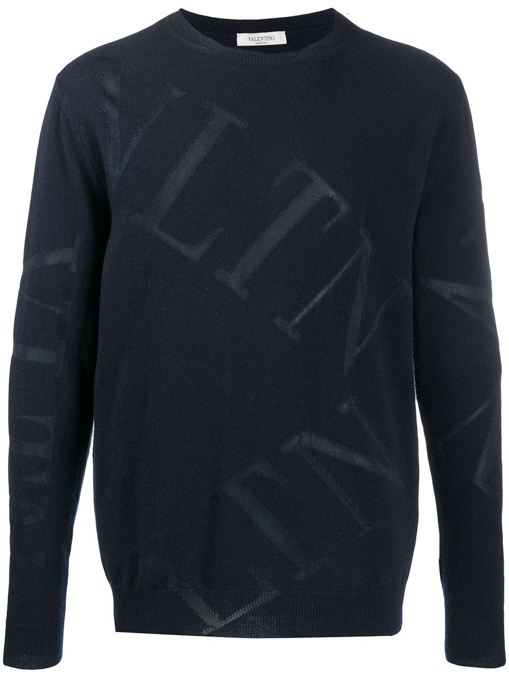 Vltn Grid Crewneck Sweater