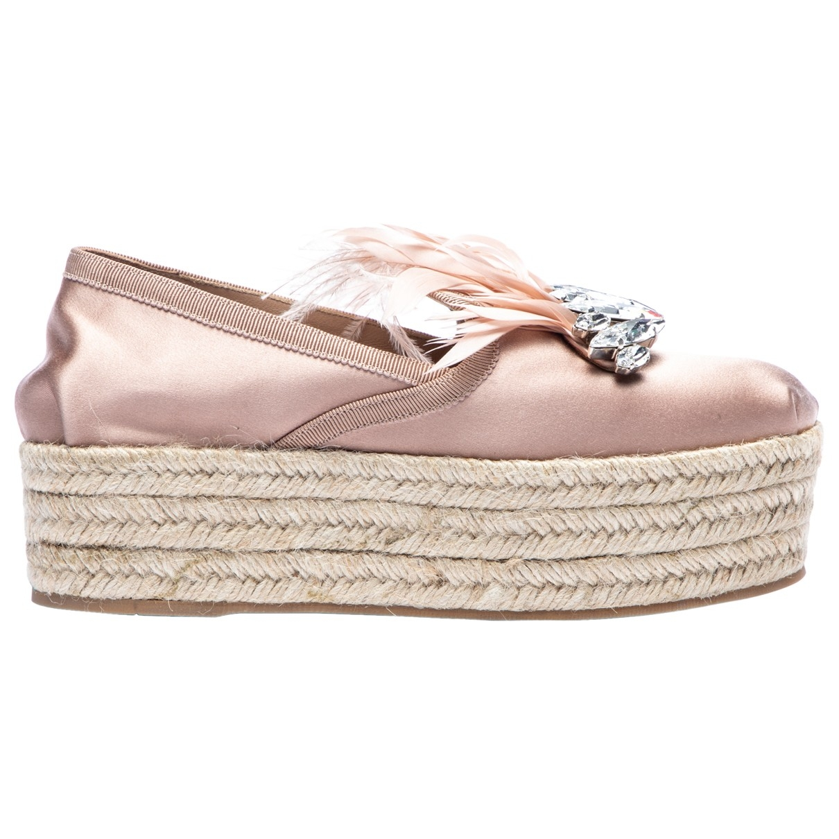 Miu Miu \N Pink Cloth Espadrilles for Women 34.5 EU