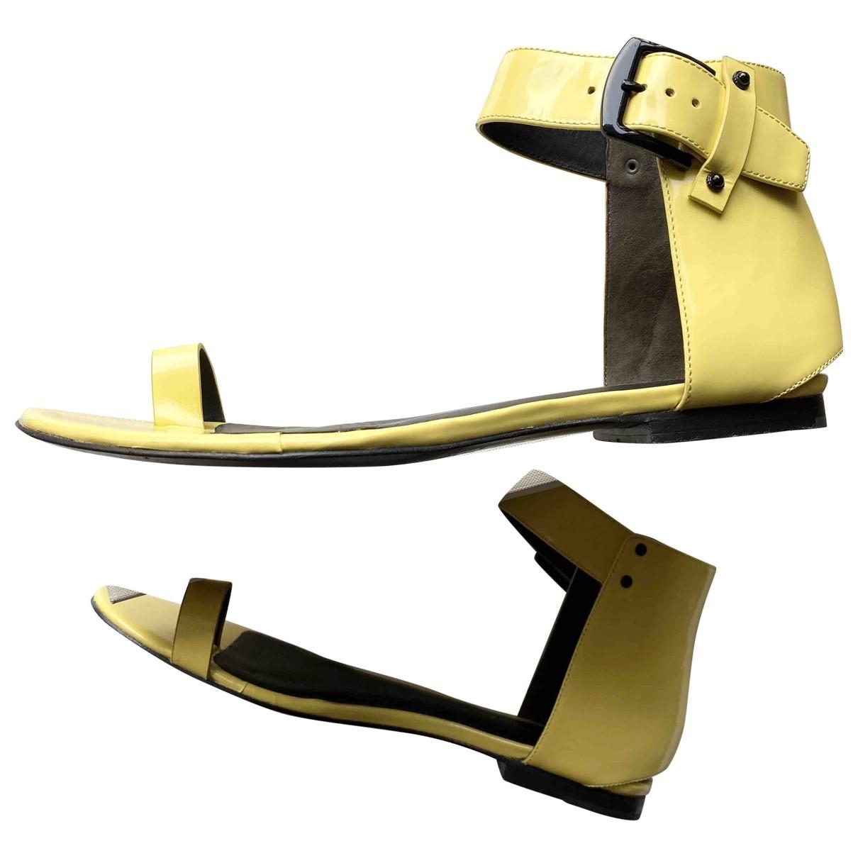 3.1 Phillip Lim - Sandales   pour femme en cuir - jaune