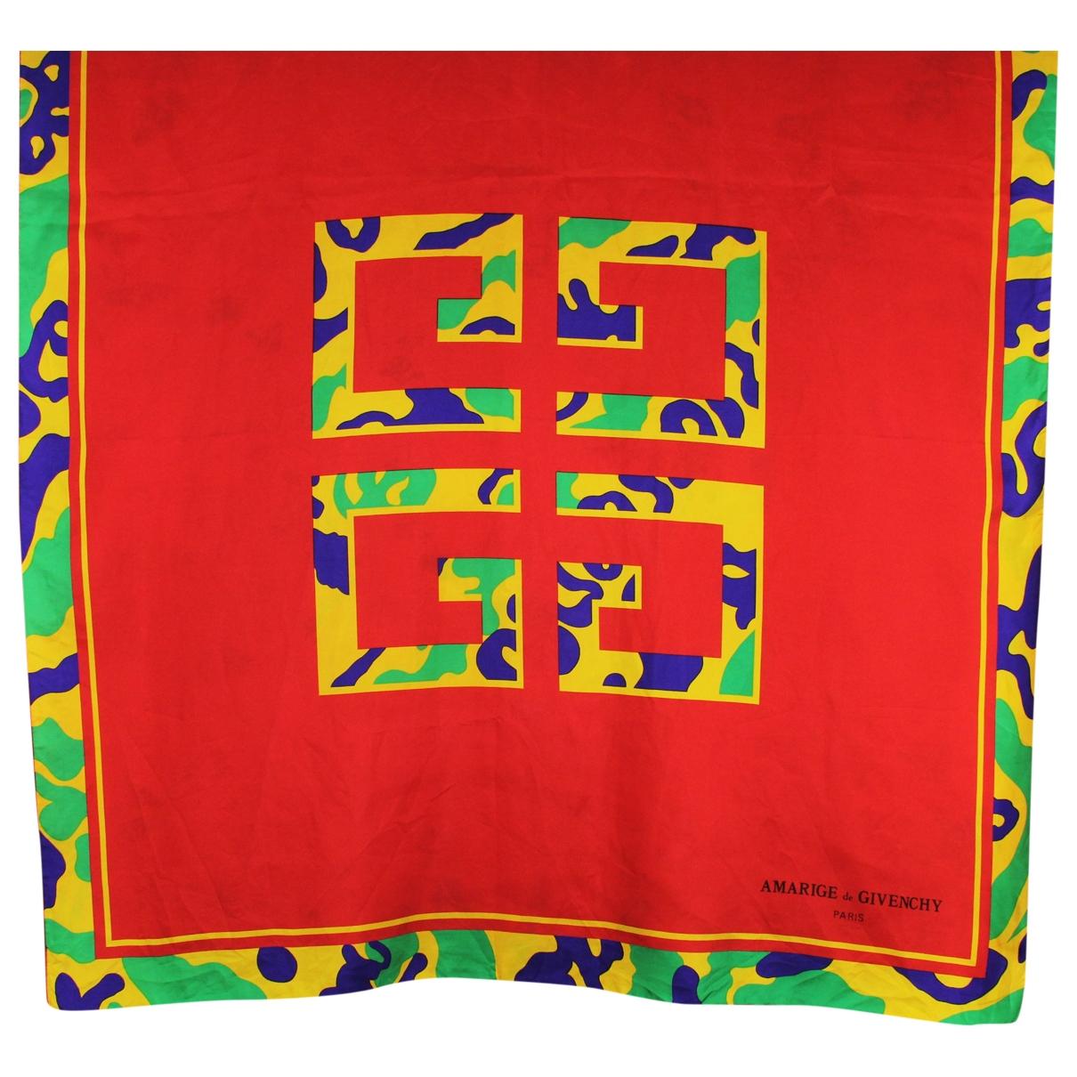 Givenchy \N Red Silk Silk handkerchief for Women \N