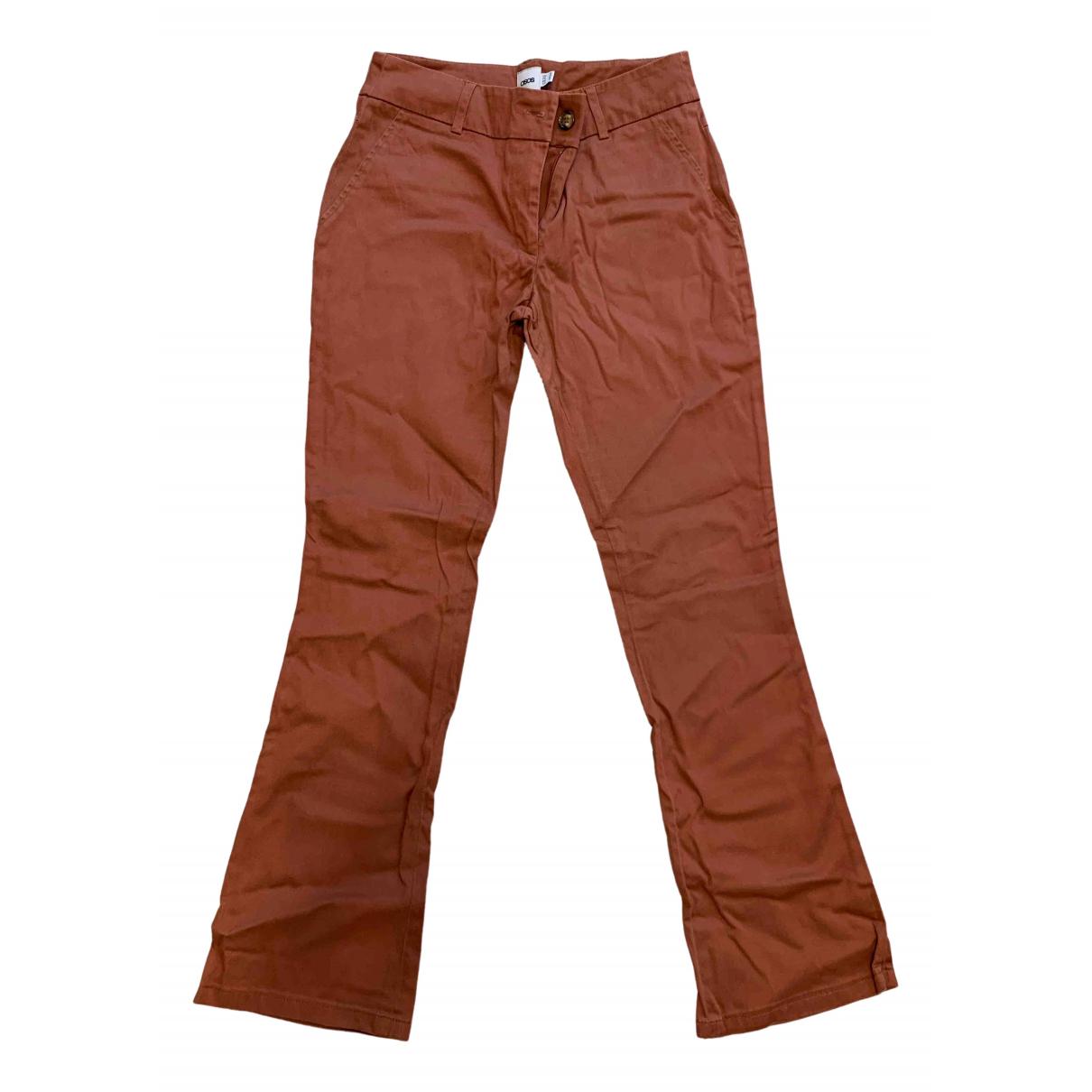 Pantalon en Poliester Marron Asos