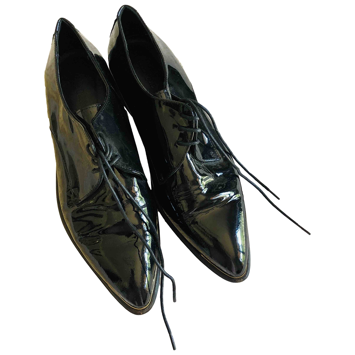 Uterque \N Black Leather Lace ups for Women 38 EU