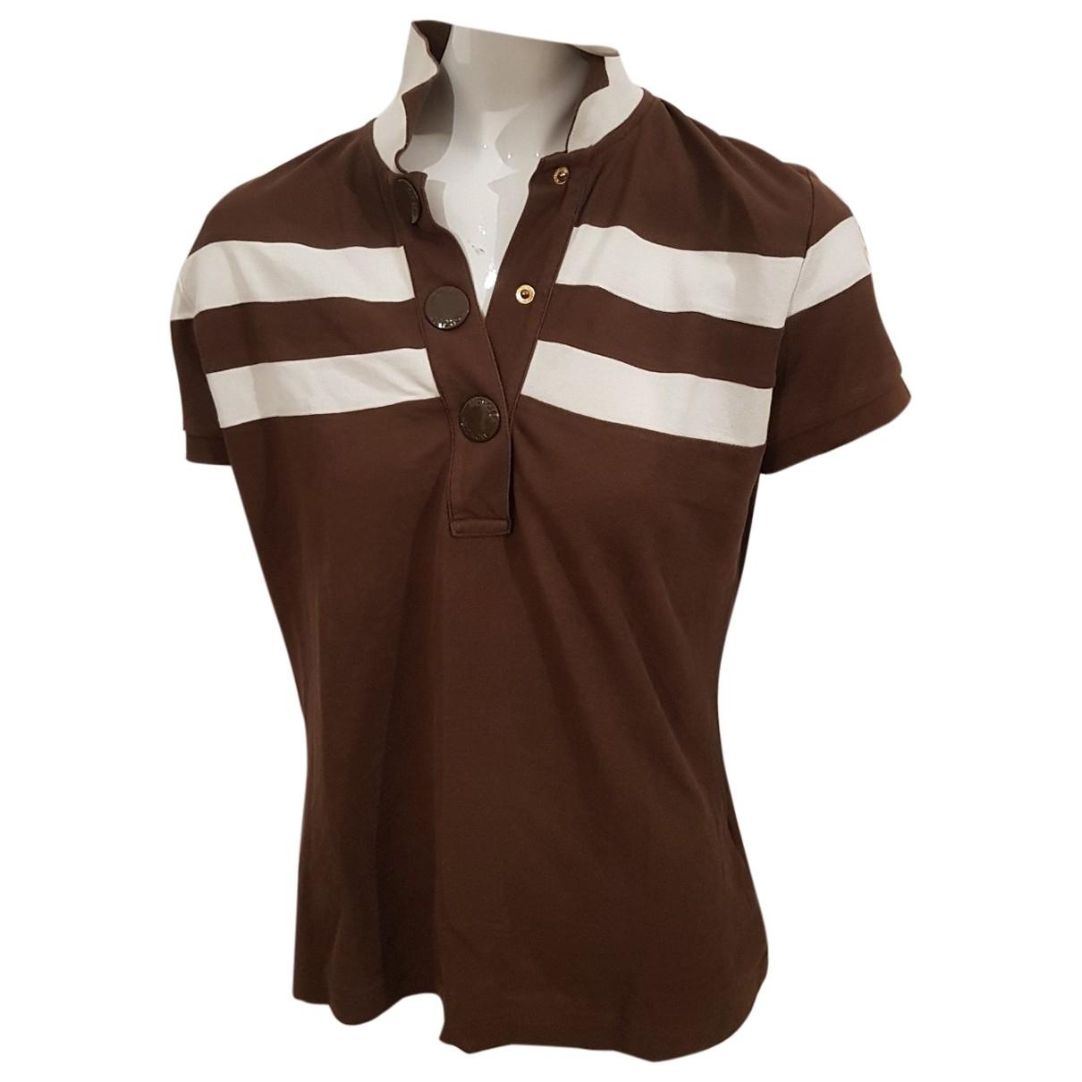 Moncler - Top   pour femme en coton - marron