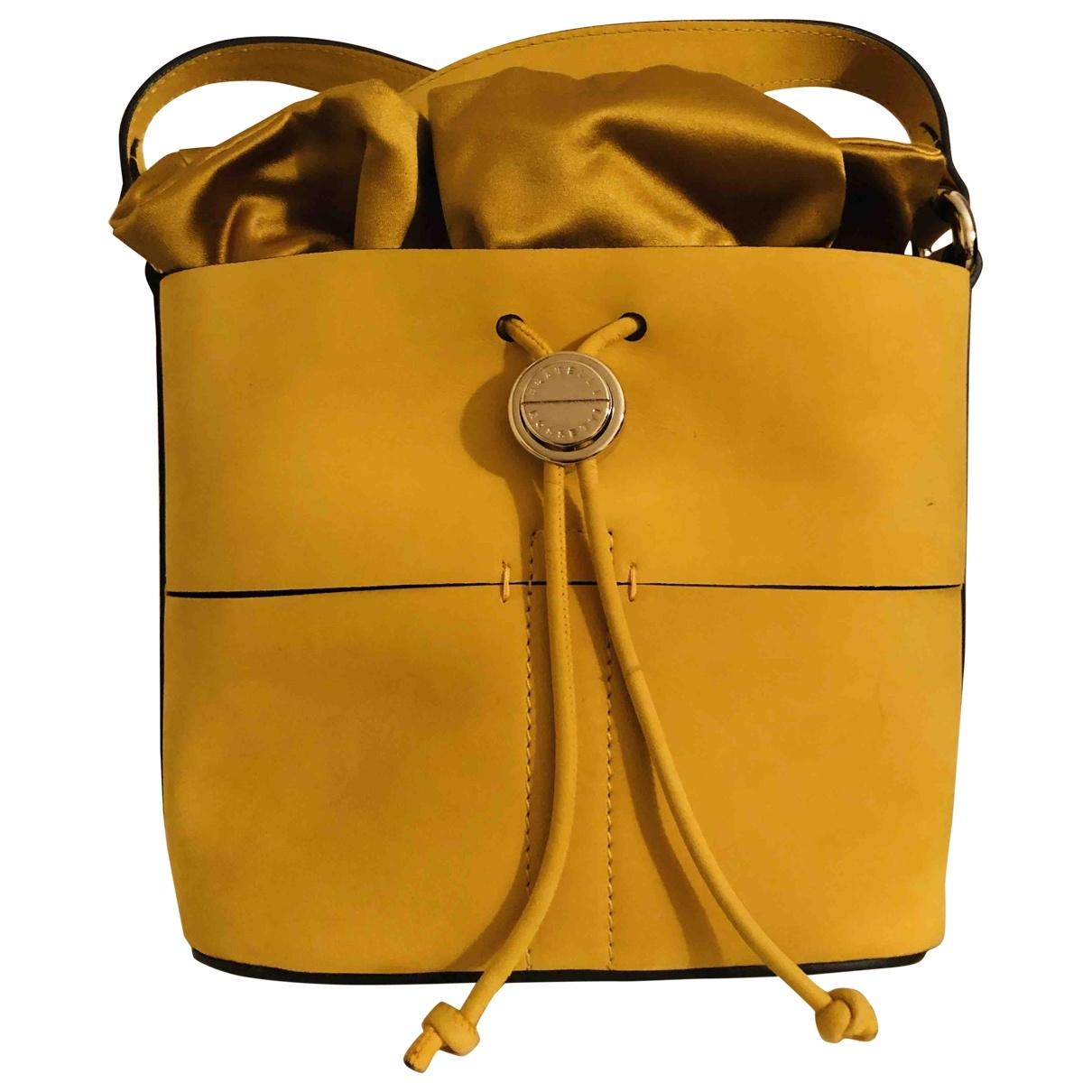Fratelli Rossetti - Sac a main   pour femme en cuir - jaune
