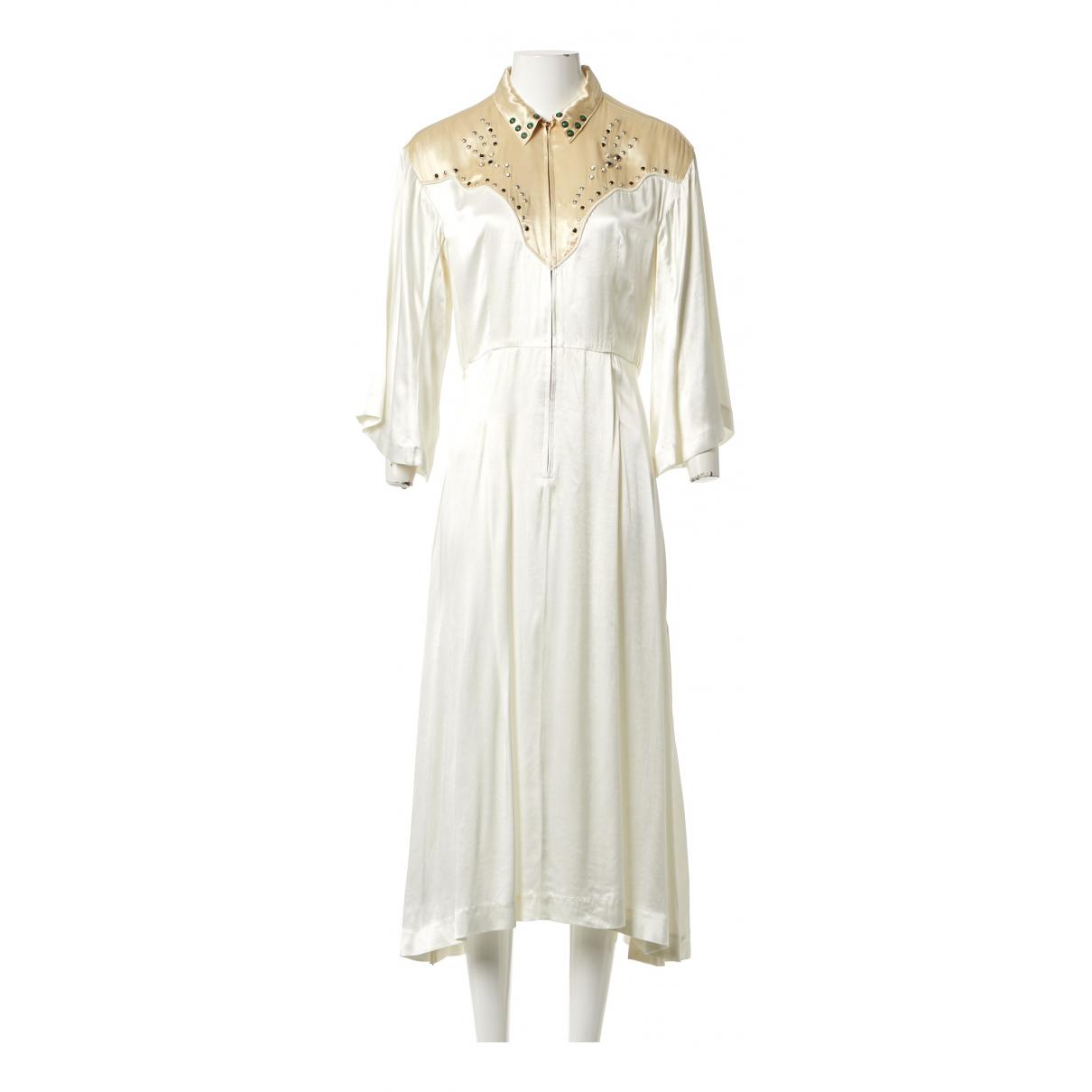 Toga Pulla \N Kleid in  Ecru Viskose