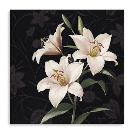 Lily Elegante Giclee Canvas Art, One Size , Pink