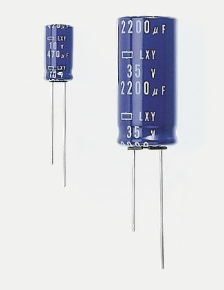 Nippon Chemi-Con 470μF Electrolytic Capacitor 10V dc, Through Hole - ELXY100ELL471MH15D (5)