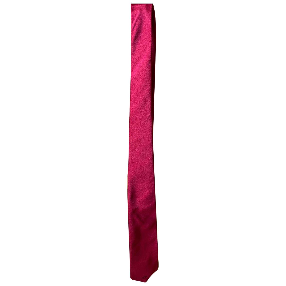Versace - Cravates   pour homme en soie - rouge