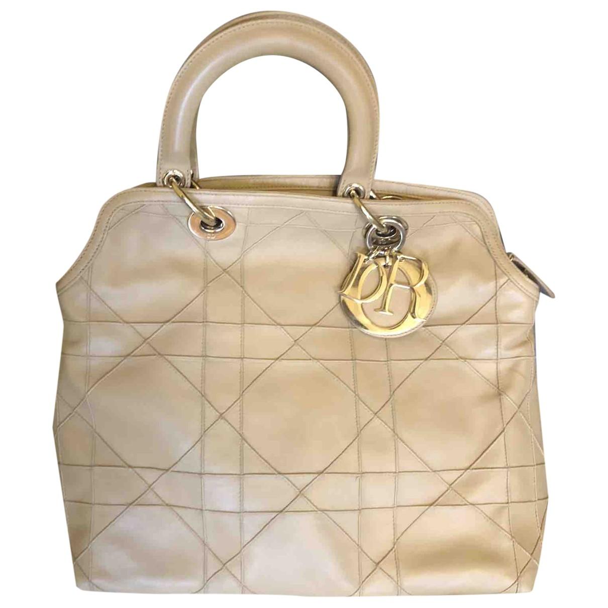Dior Granville Beige Leather handbag for Women \N