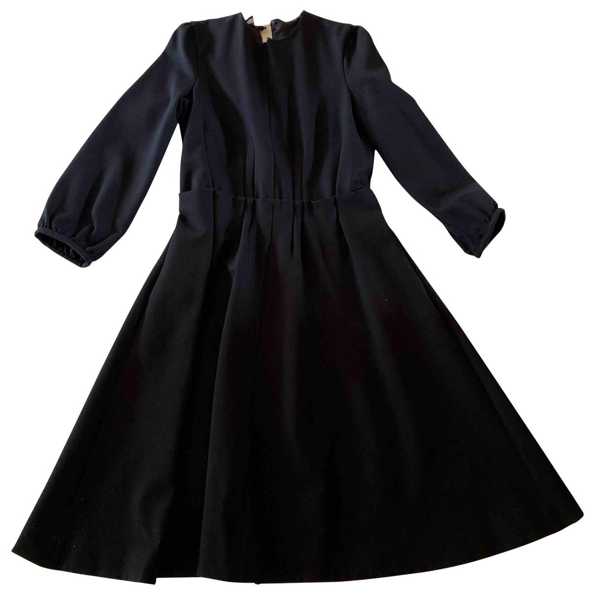 Rochas \N Kleid in  Schwarz Viskose